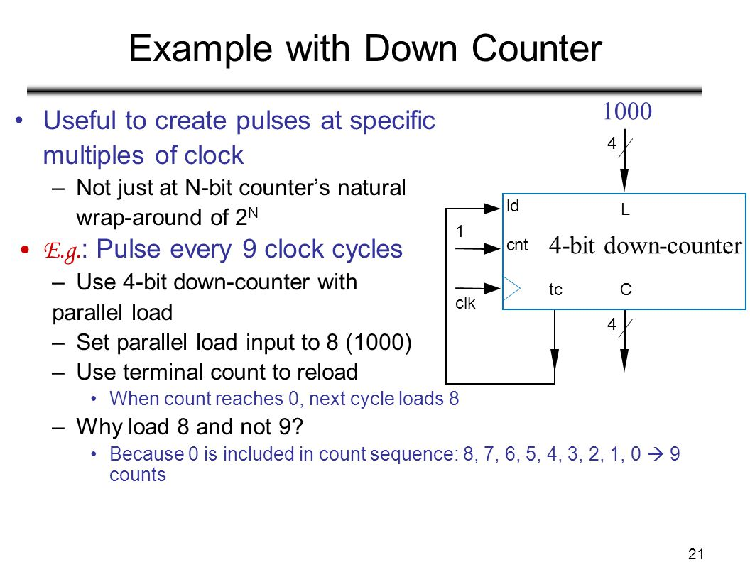 Example with Down Counter
