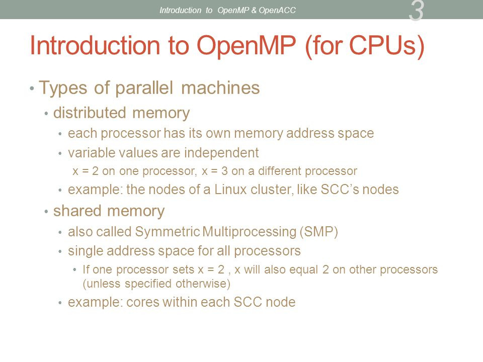 Introduction to OpenMP (for CPUs)