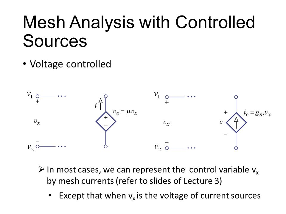Mesh Analysis with Controlled Sources