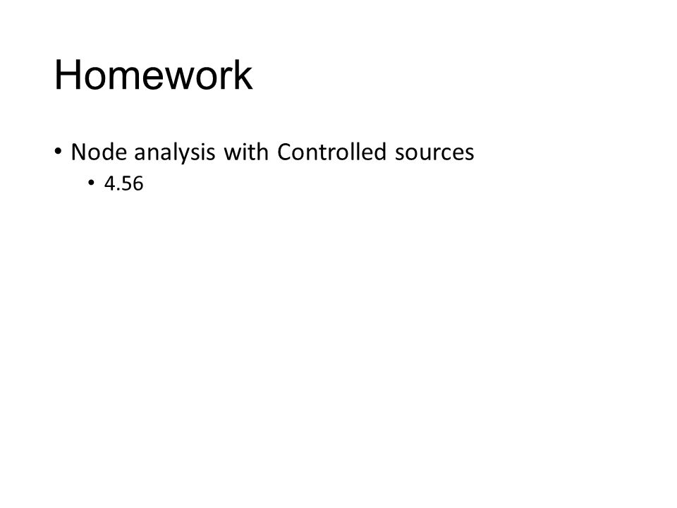 Homework Node analysis with Controlled sources 4.56