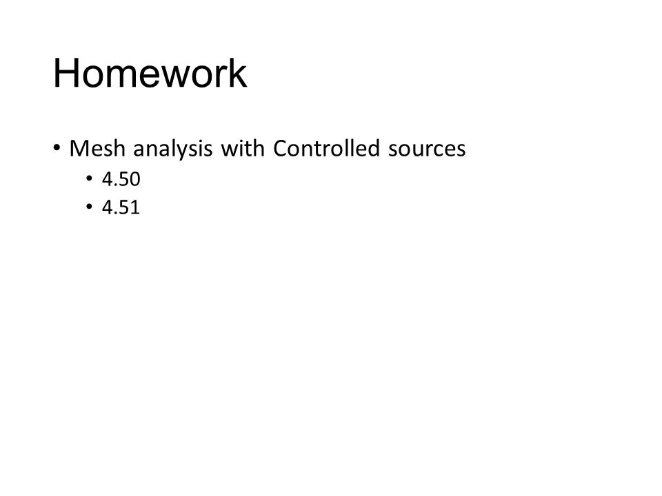 Homework Mesh analysis with Controlled sources