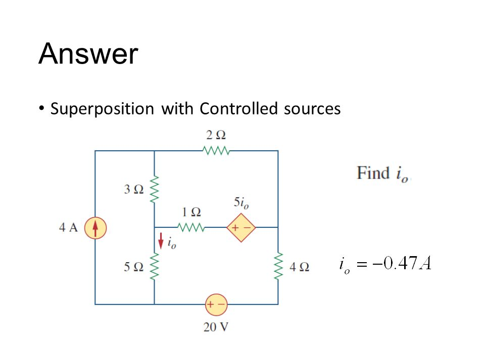 Answer Superposition with Controlled sources