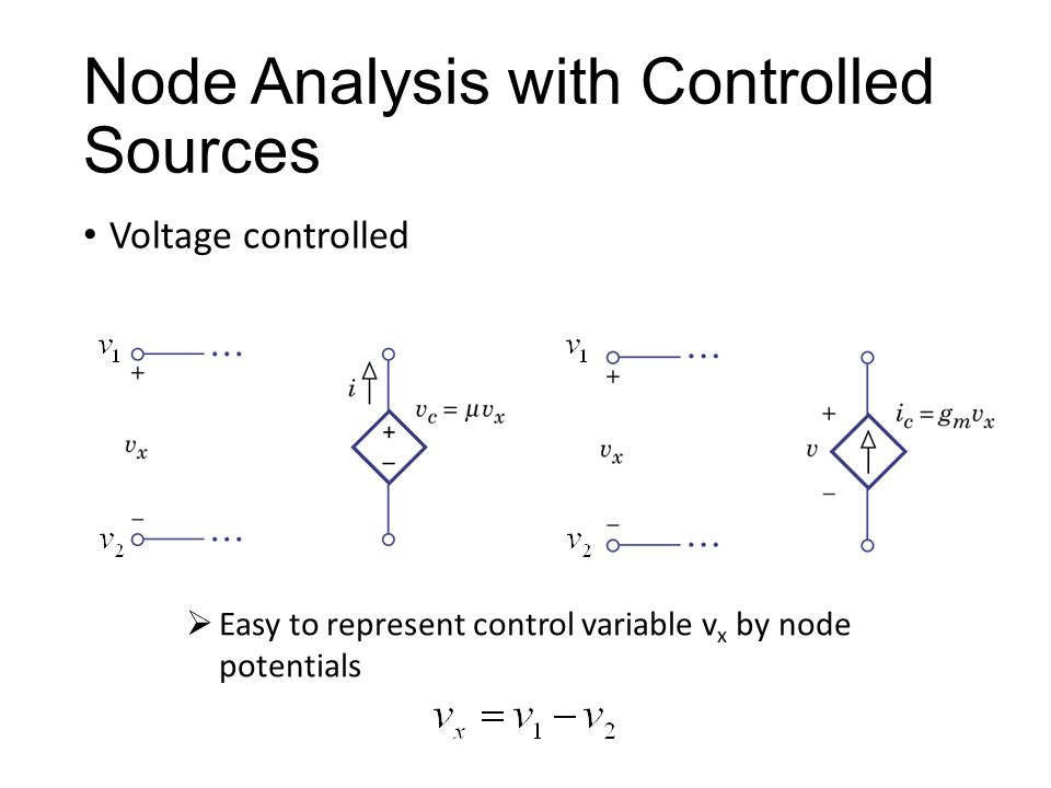 Node Analysis with Controlled Sources