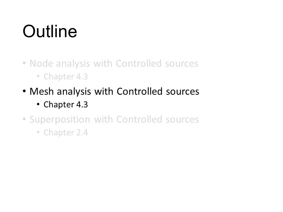 Outline Node analysis with Controlled sources
