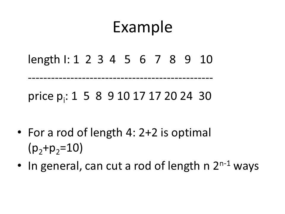 Example length I: 1 2 3 4 5 6 7 8 9 10. ------------------------------------------------