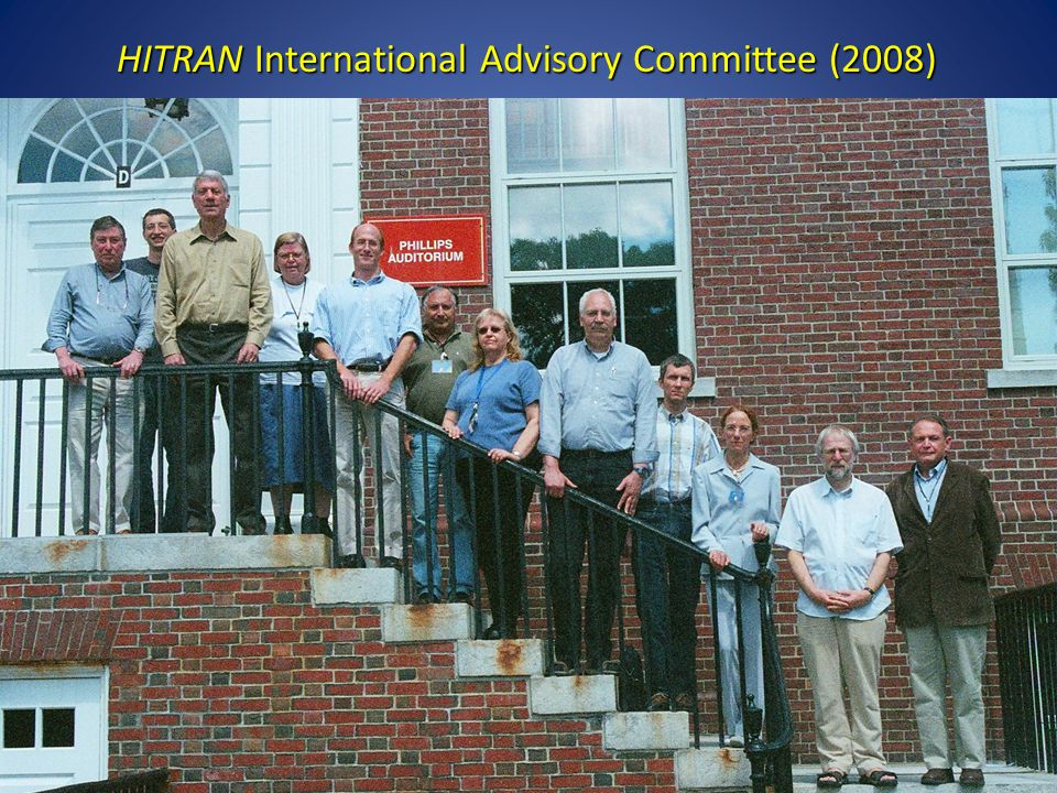 HITRAN International Advisory Committee (2008)