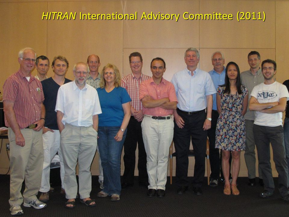 HITRAN International Advisory Committee (2011)