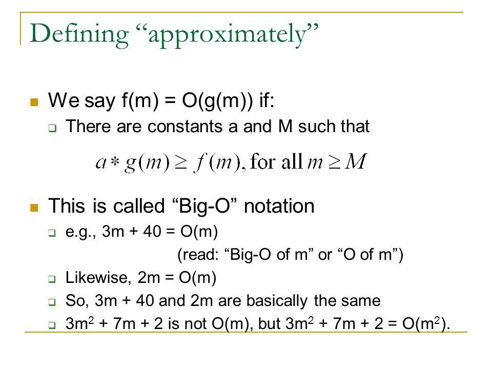 Defining approximately