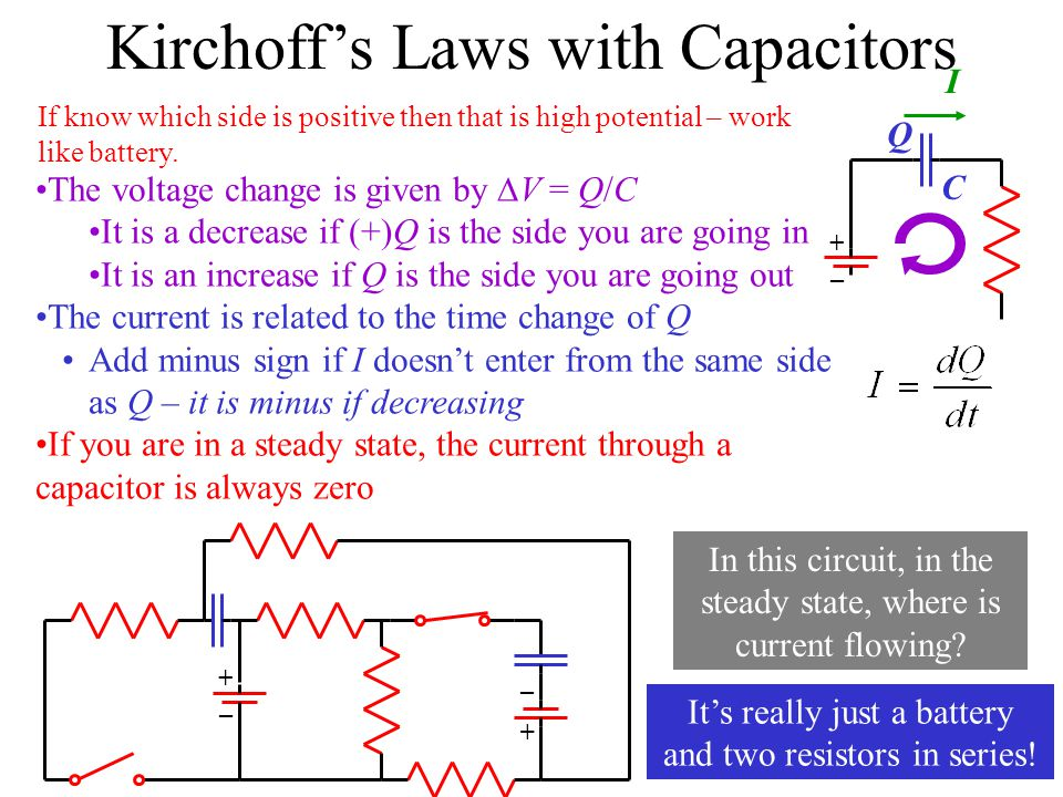 Kirchoff's Laws with Capacitors
