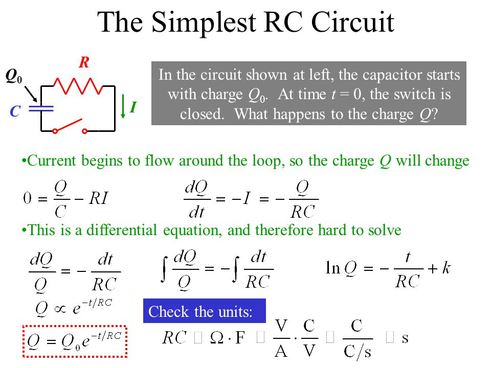 The Simplest RC Circuit