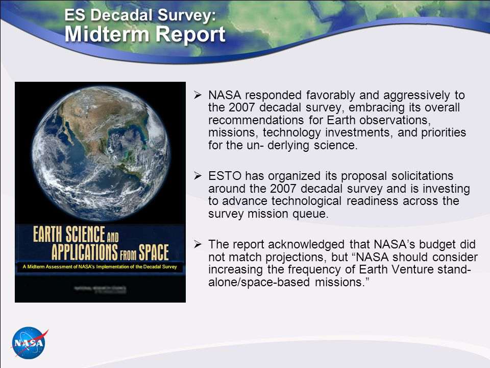 A Midterm Assessment of NASA's Implementation of the Decadal Survey