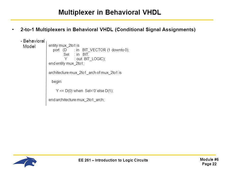 Multiplexer in Behavioral VHDL
