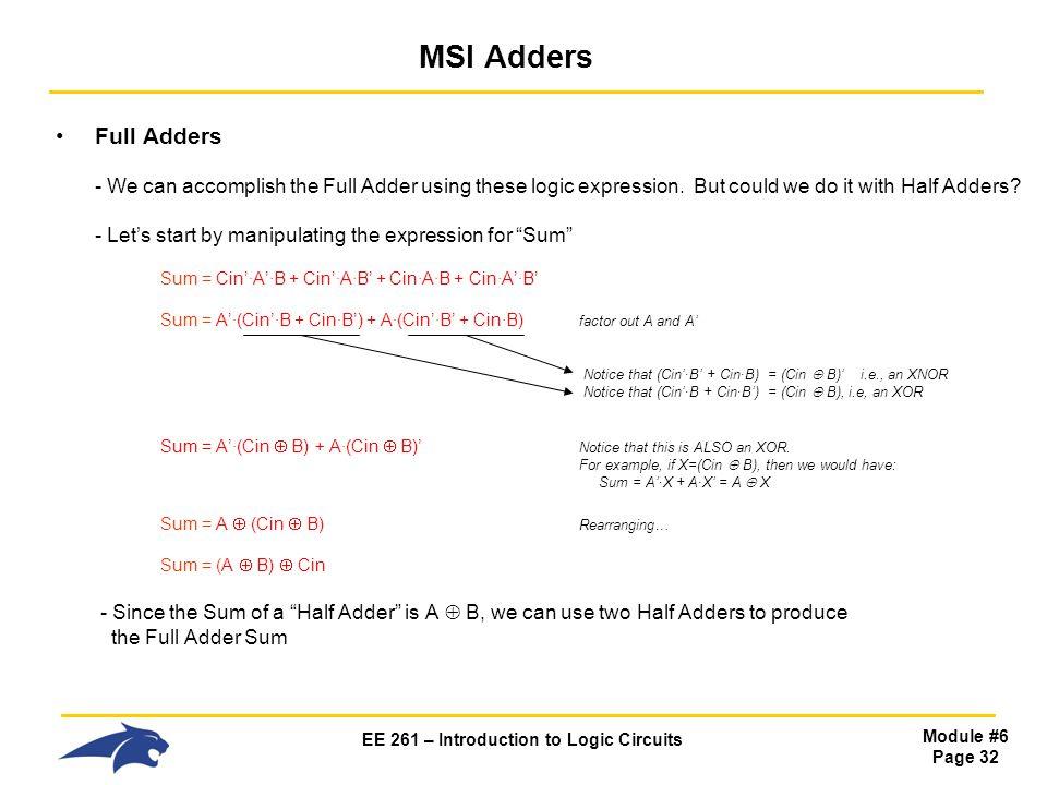 MSI Adders