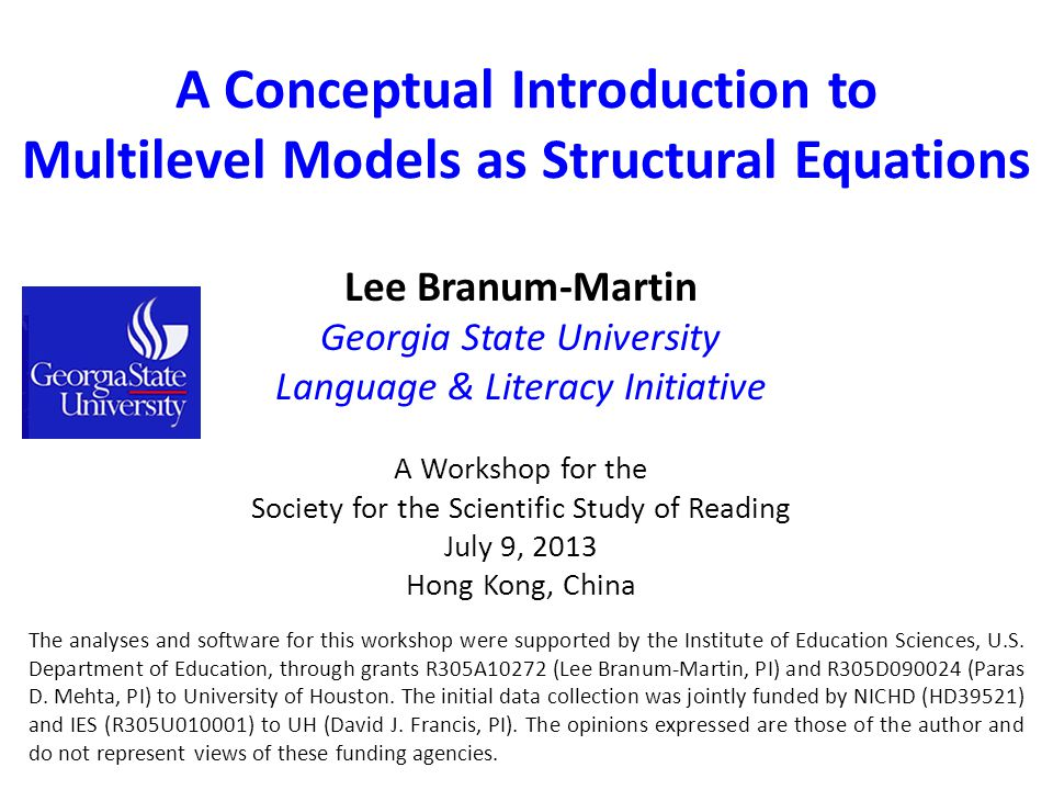 A Conceptual Introduction to Multilevel Models as Structural Equations