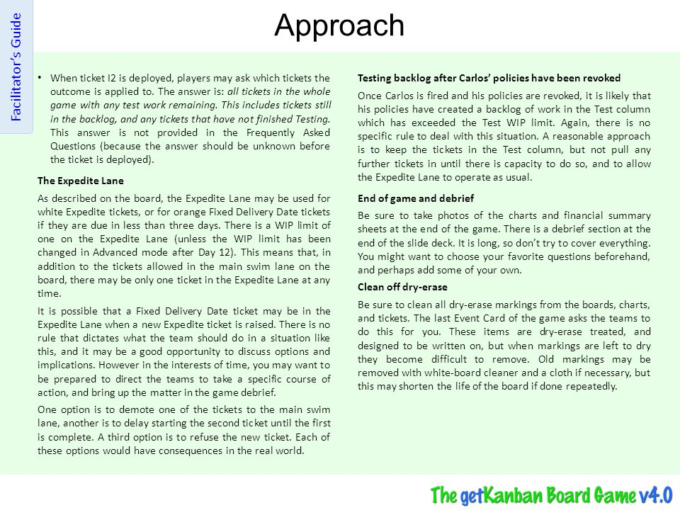 Approach Facilitator's Guide