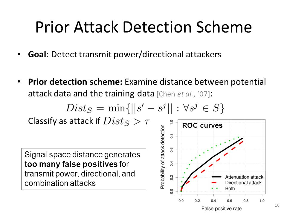 Attack Detection: Minimize Variance