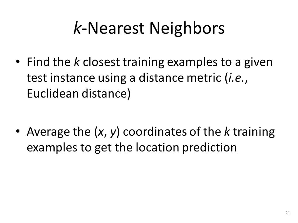 k-Nearest Neighbors – Median