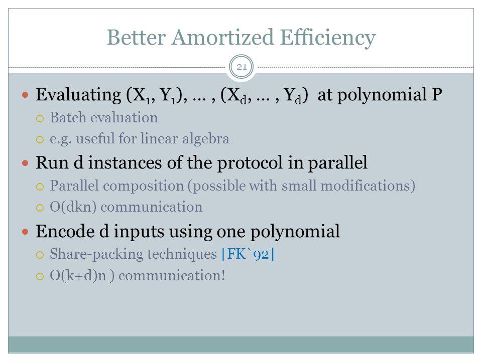 Better Amortized Efficiency
