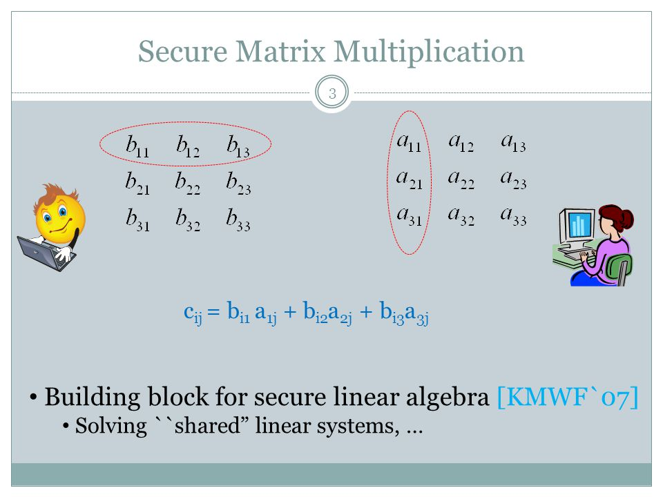 Secure Matrix Multiplication