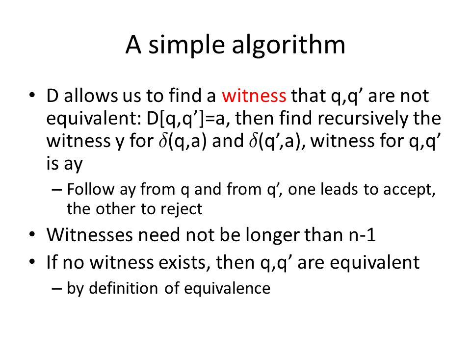 A simple algorithm