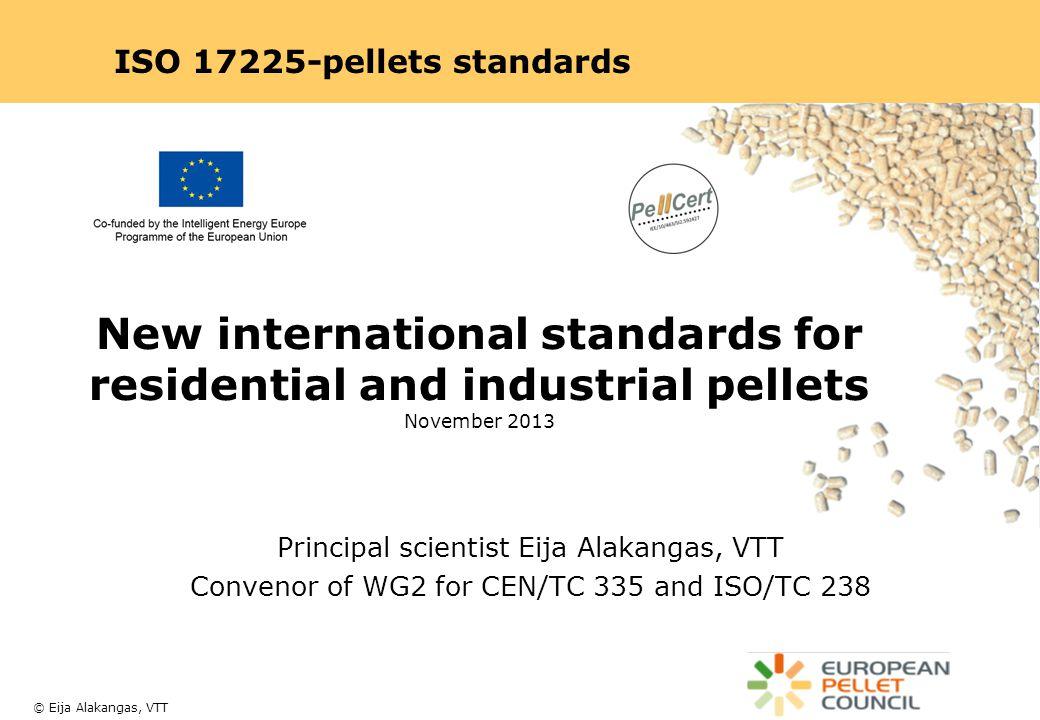 ISO 17225-pellets standards