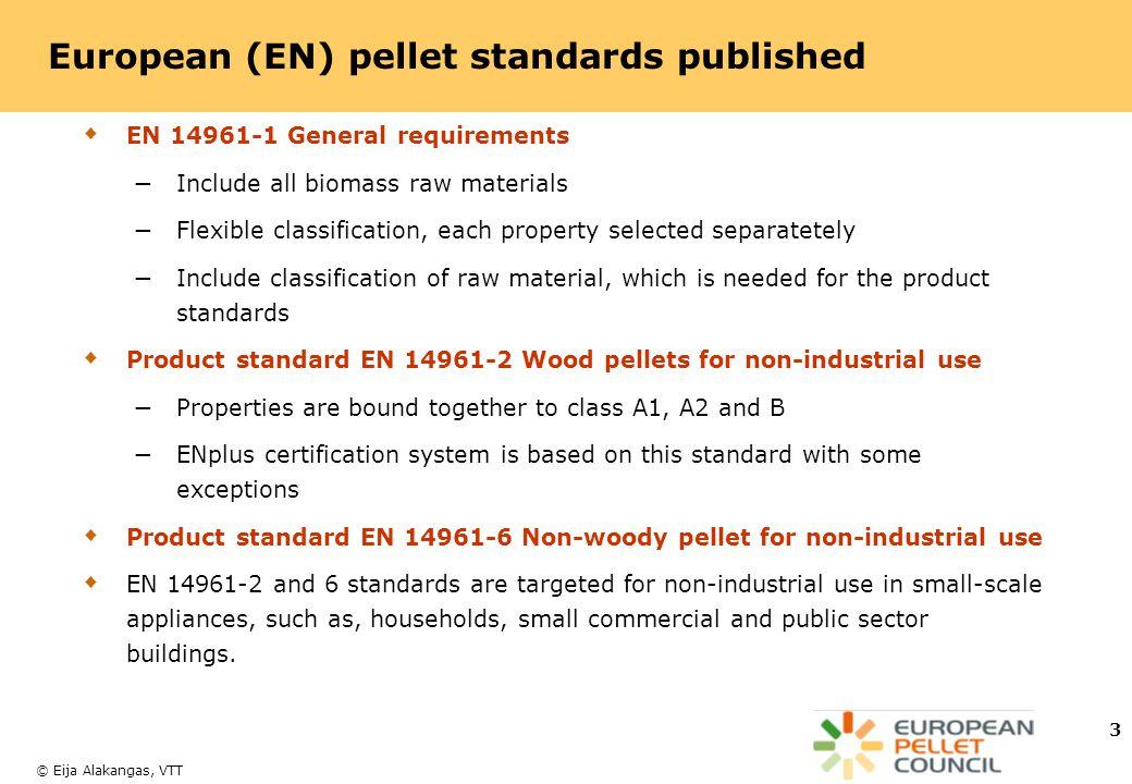 European (EN) pellet standards published