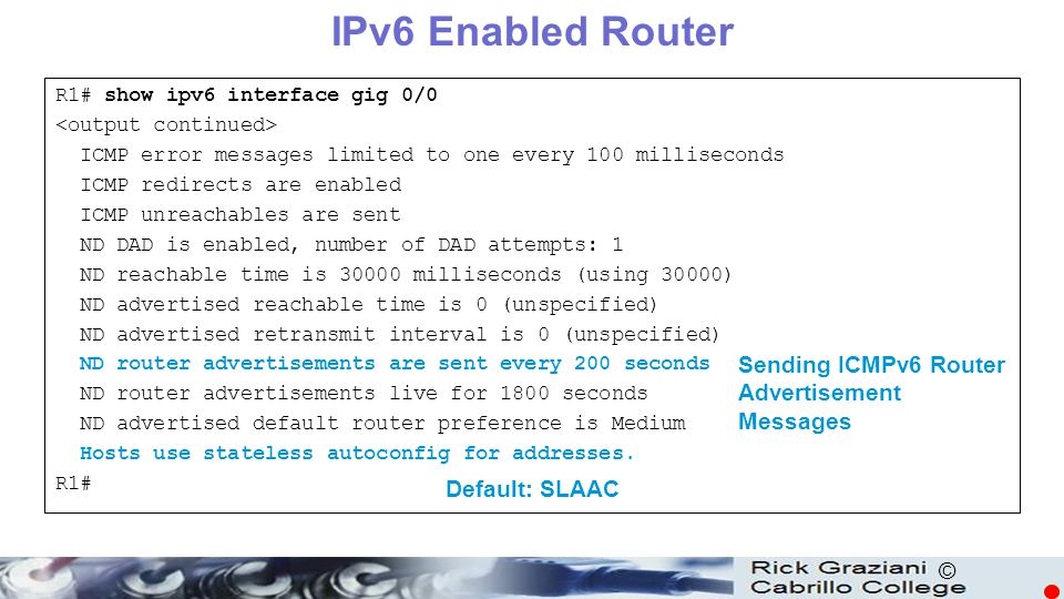 IPv6 Enabled Router ICMPv6