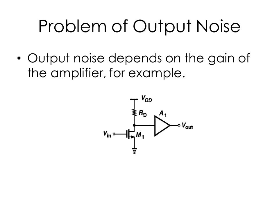 Problem of Output Noise