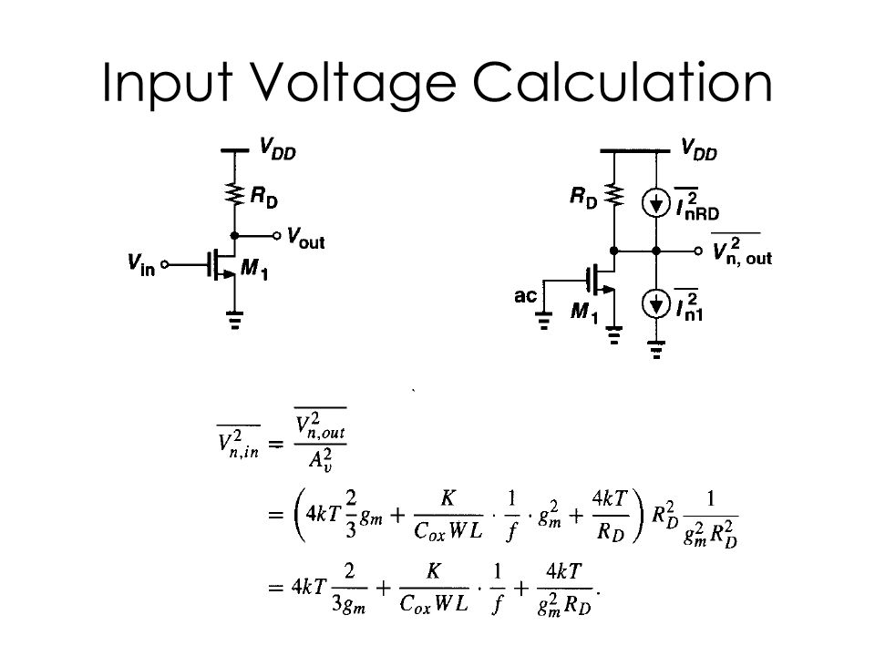 Input Voltage Calculation
