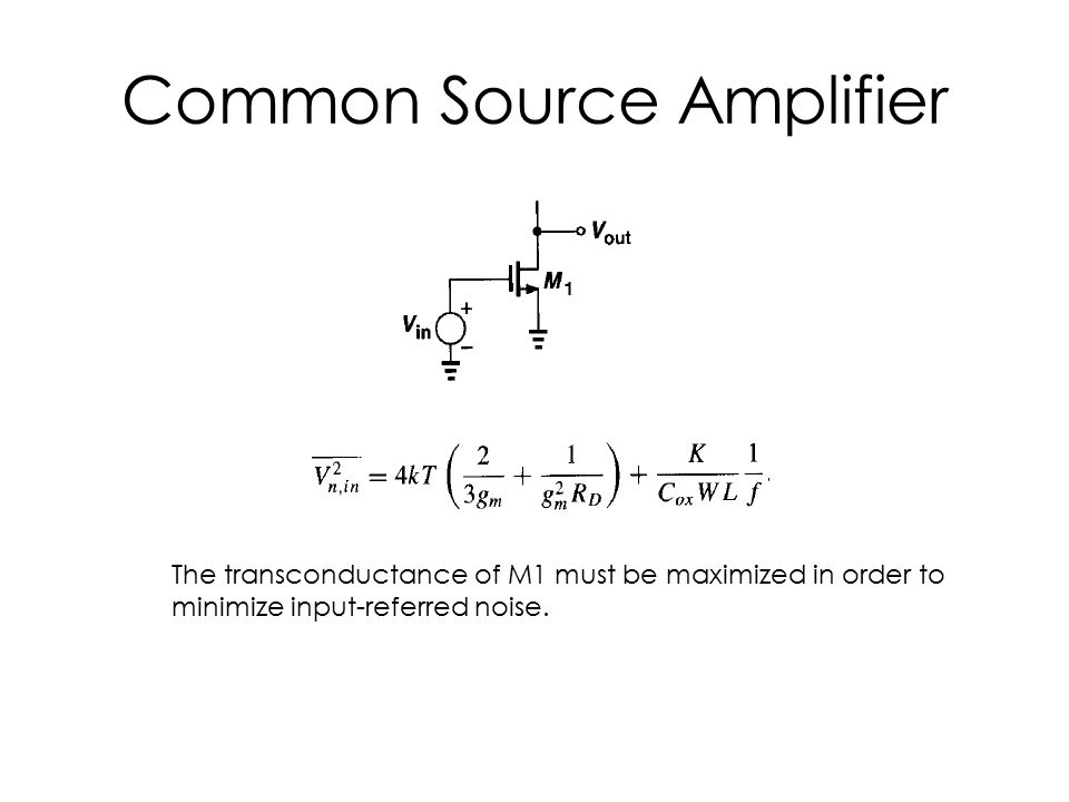 Common Source Amplifier