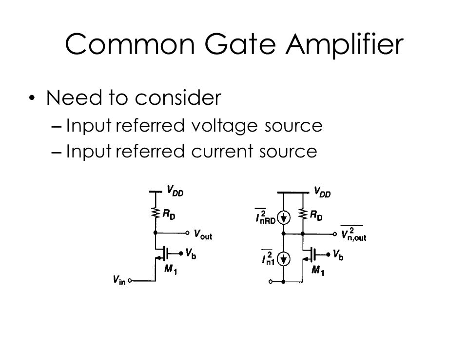 Common Gate Amplifier Need to consider Input referred voltage source