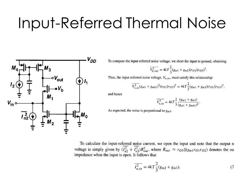 Input-Referred Thermal Noise
