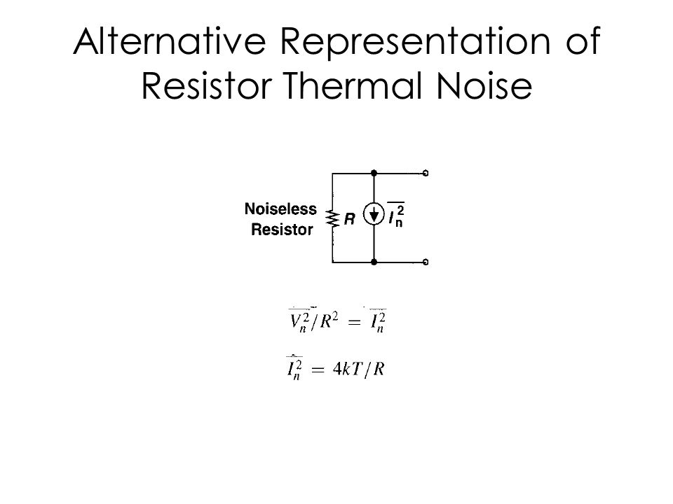 Alternative Representation of Resistor Thermal Noise