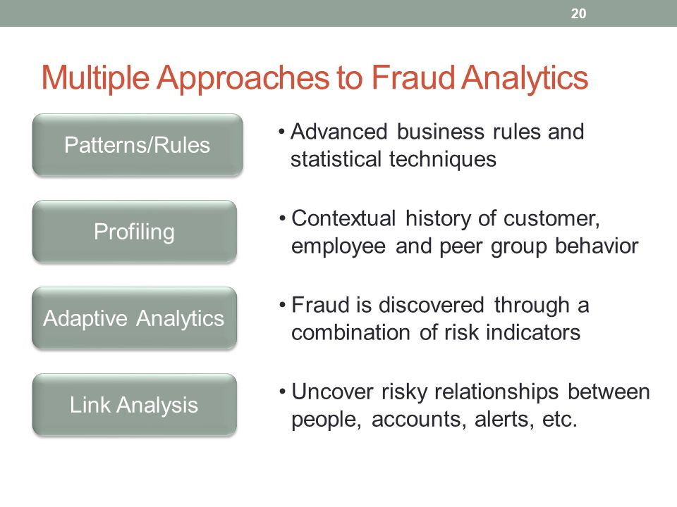 Multiple Approaches to Fraud Analytics