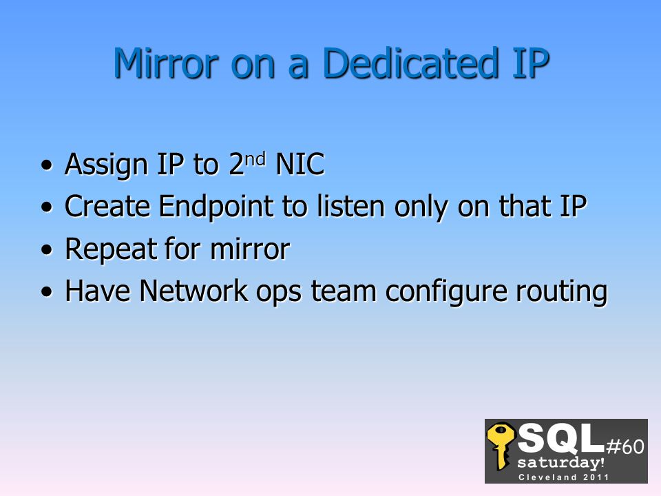 Mirror on a Dedicated IP