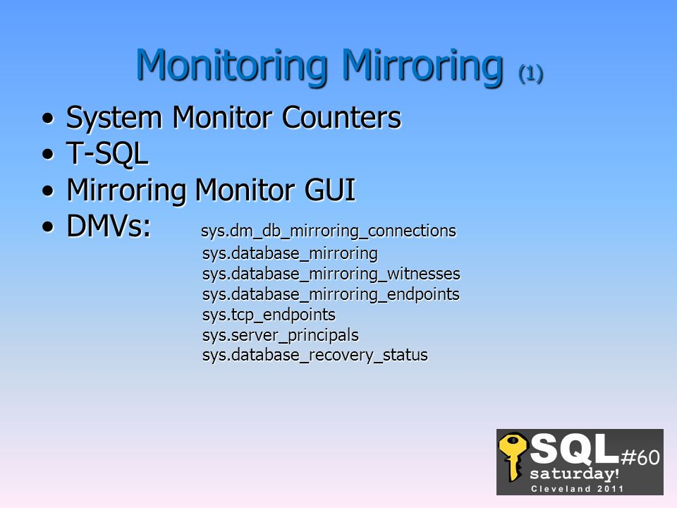 Monitoring Mirroring (1)