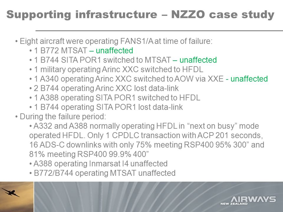 Supporting infrastructure – NZZO case study