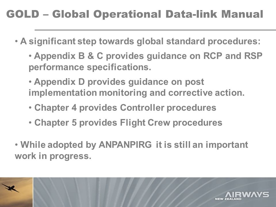 GOLD – Global Operational Data-link Manual