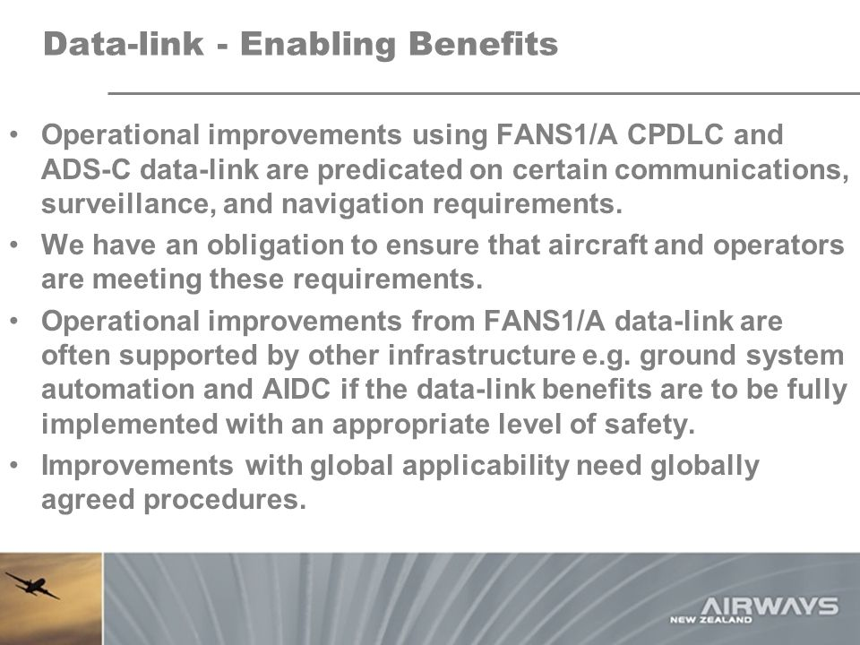 Data-link - Enabling Benefits