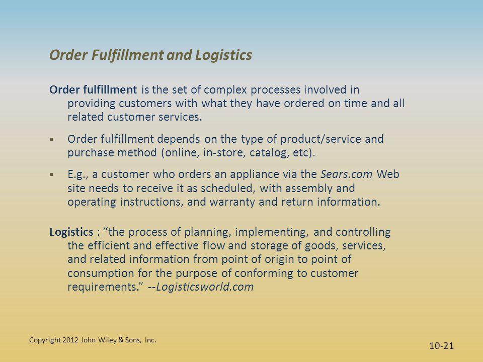 Order Fulfillment and Logistics