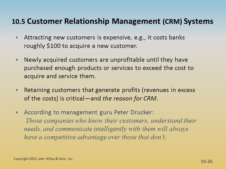 10.5 Customer Relationship Management (CRM) Systems