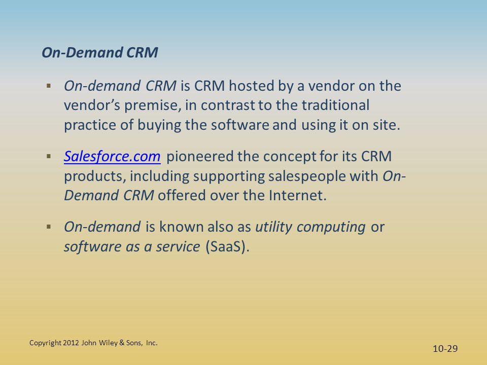 On-Demand CRM