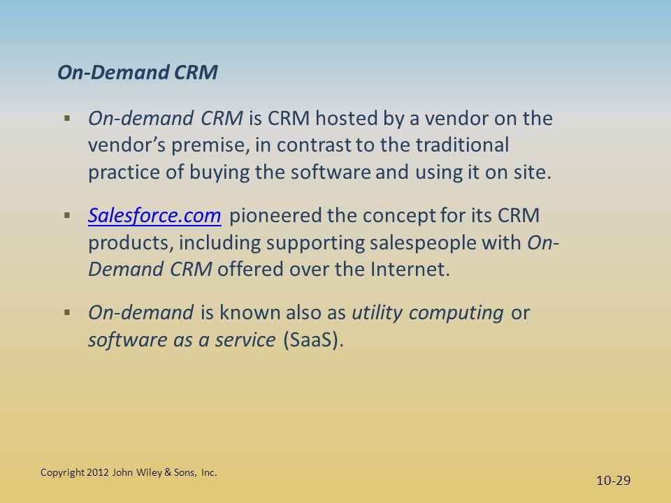 On-Demand CRM