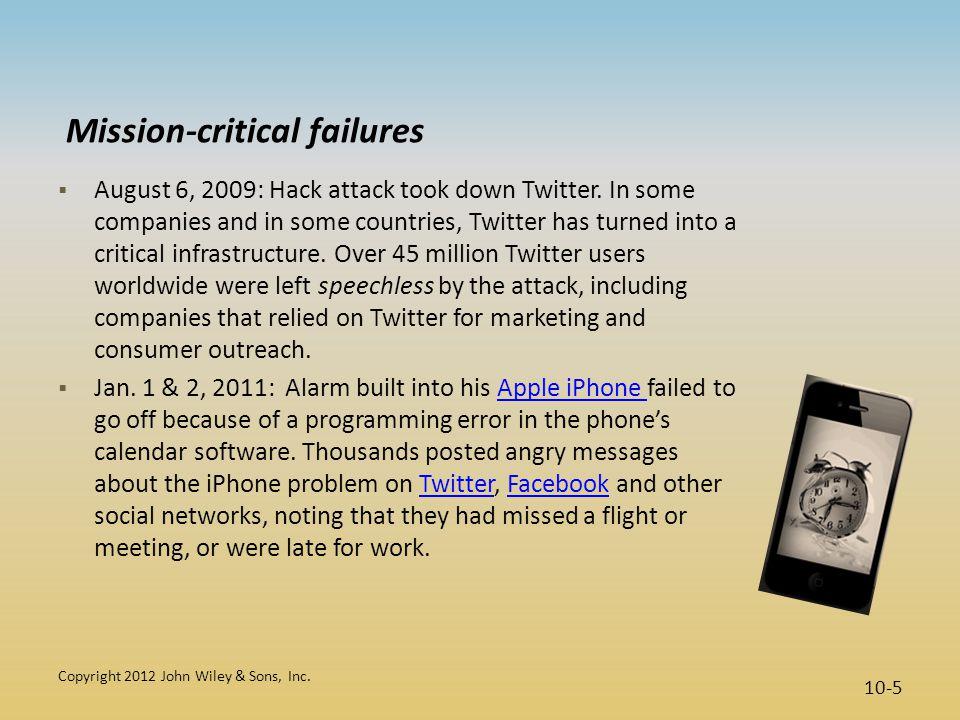 Mission-critical failures