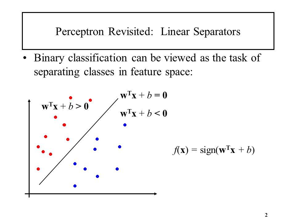 Perceptron Revisited: Linear Separators