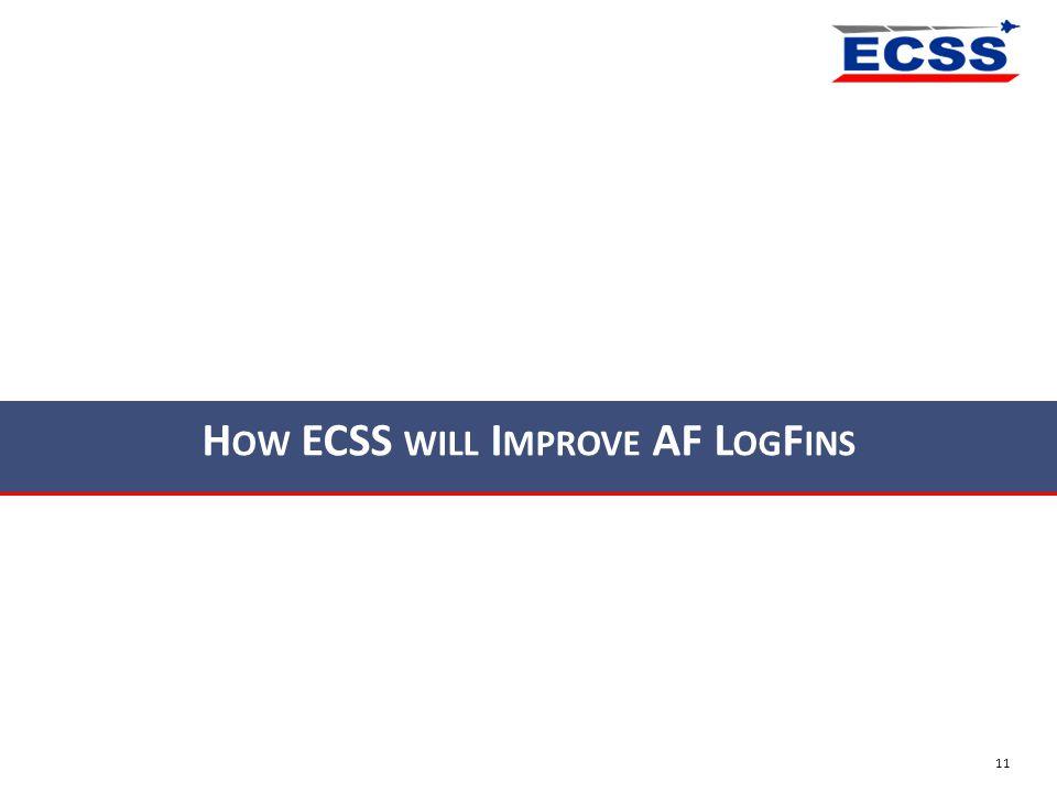 How ECSS will Improve AF LogFins