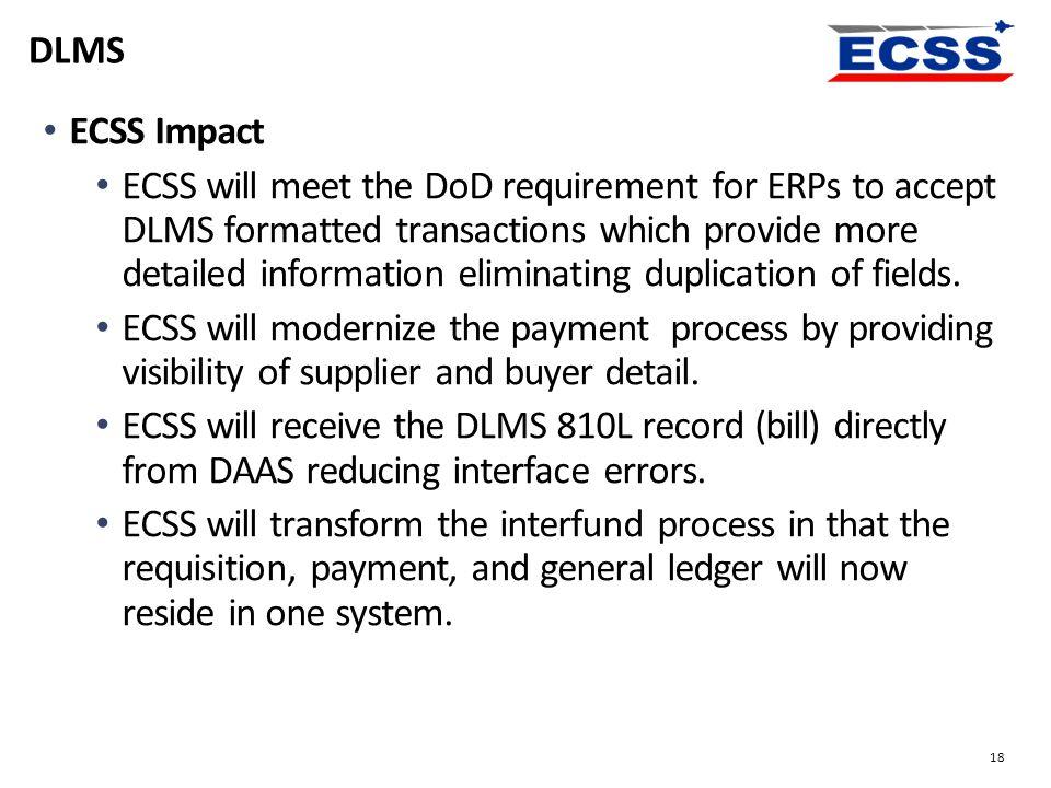 DLMS ECSS Impact.