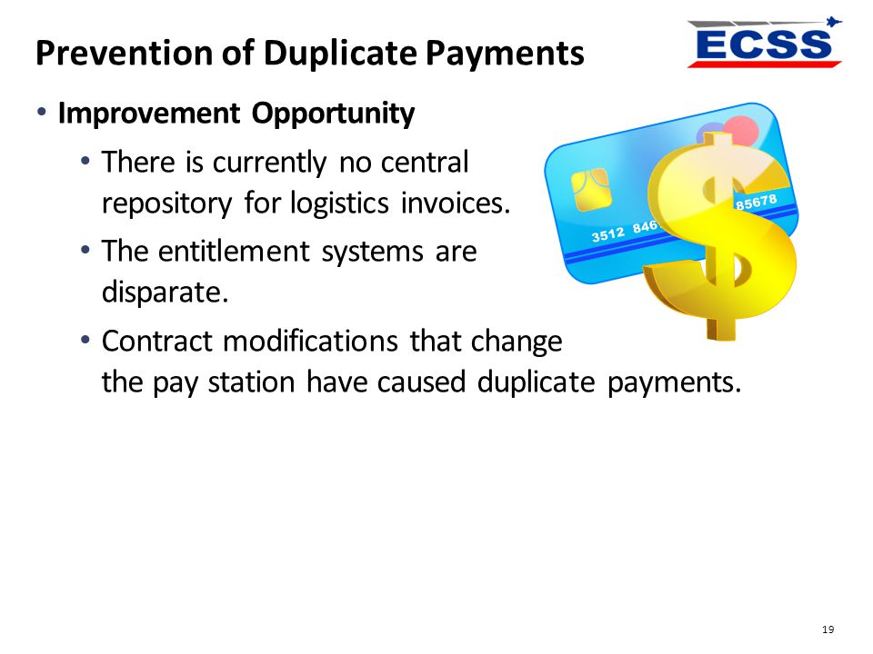 Prevention of Duplicate Payments