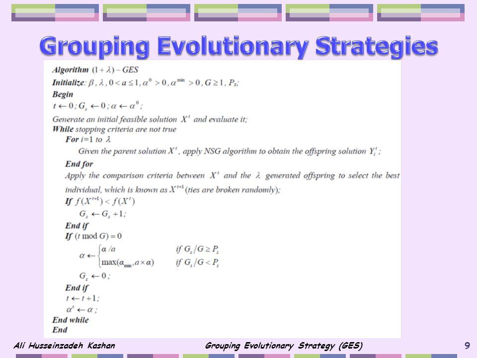 Grouping Evolutionary Strategies