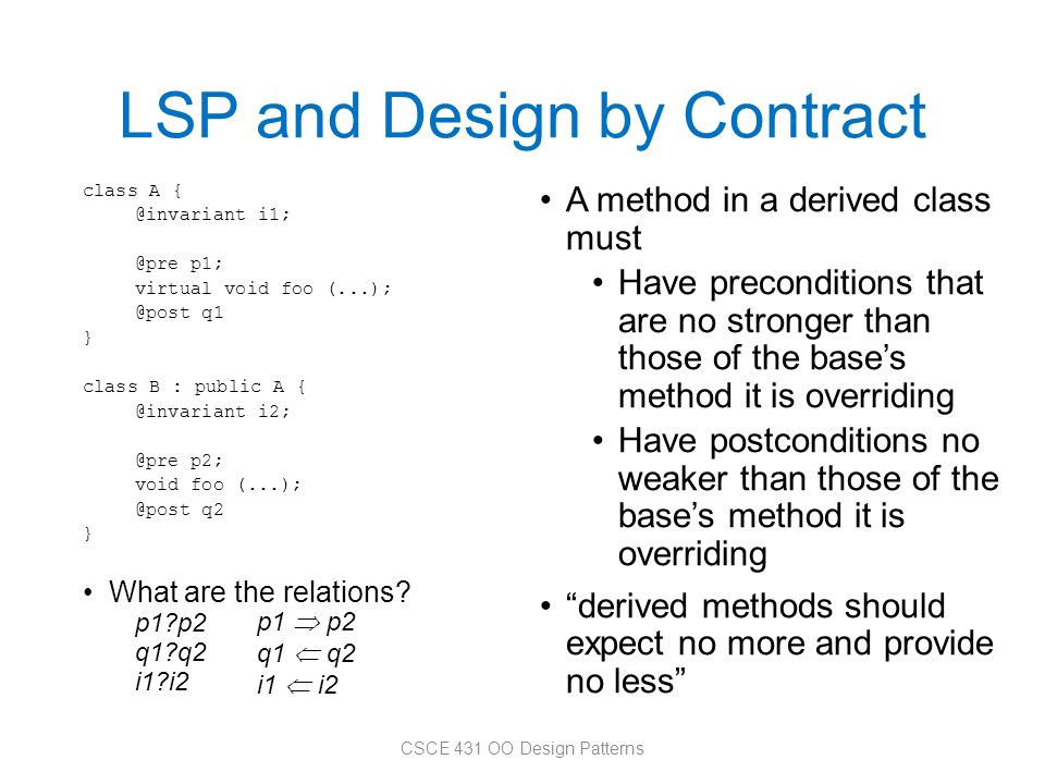 LSP and Design by Contract